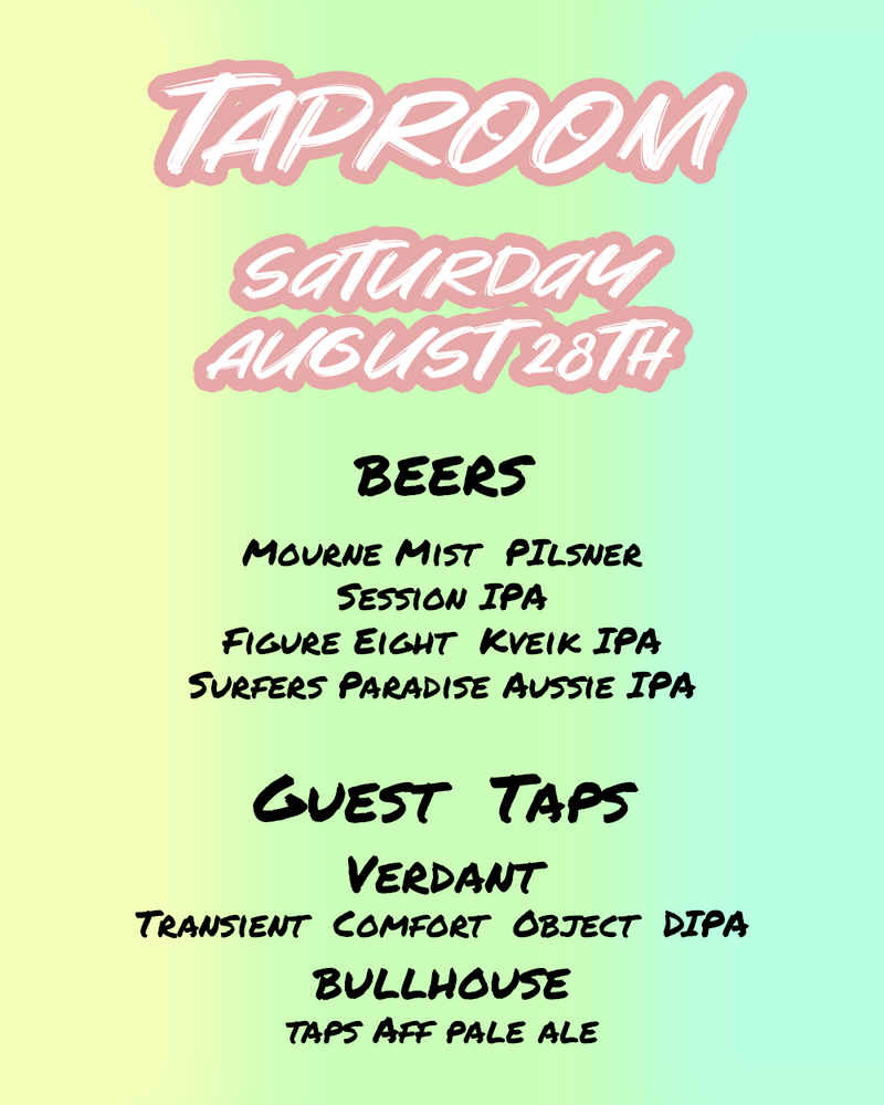 Taproom - Saturday August 28th 2pm-11pm thumbnail