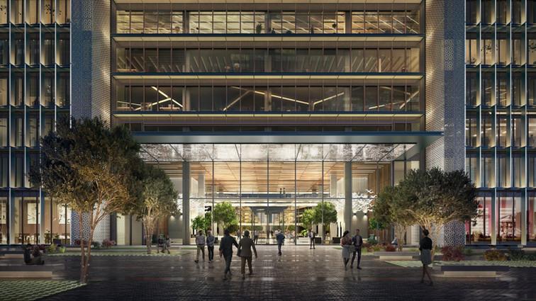 Baku White City Office Gate Building