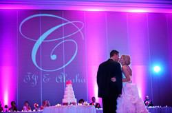 Miami monogram wedding