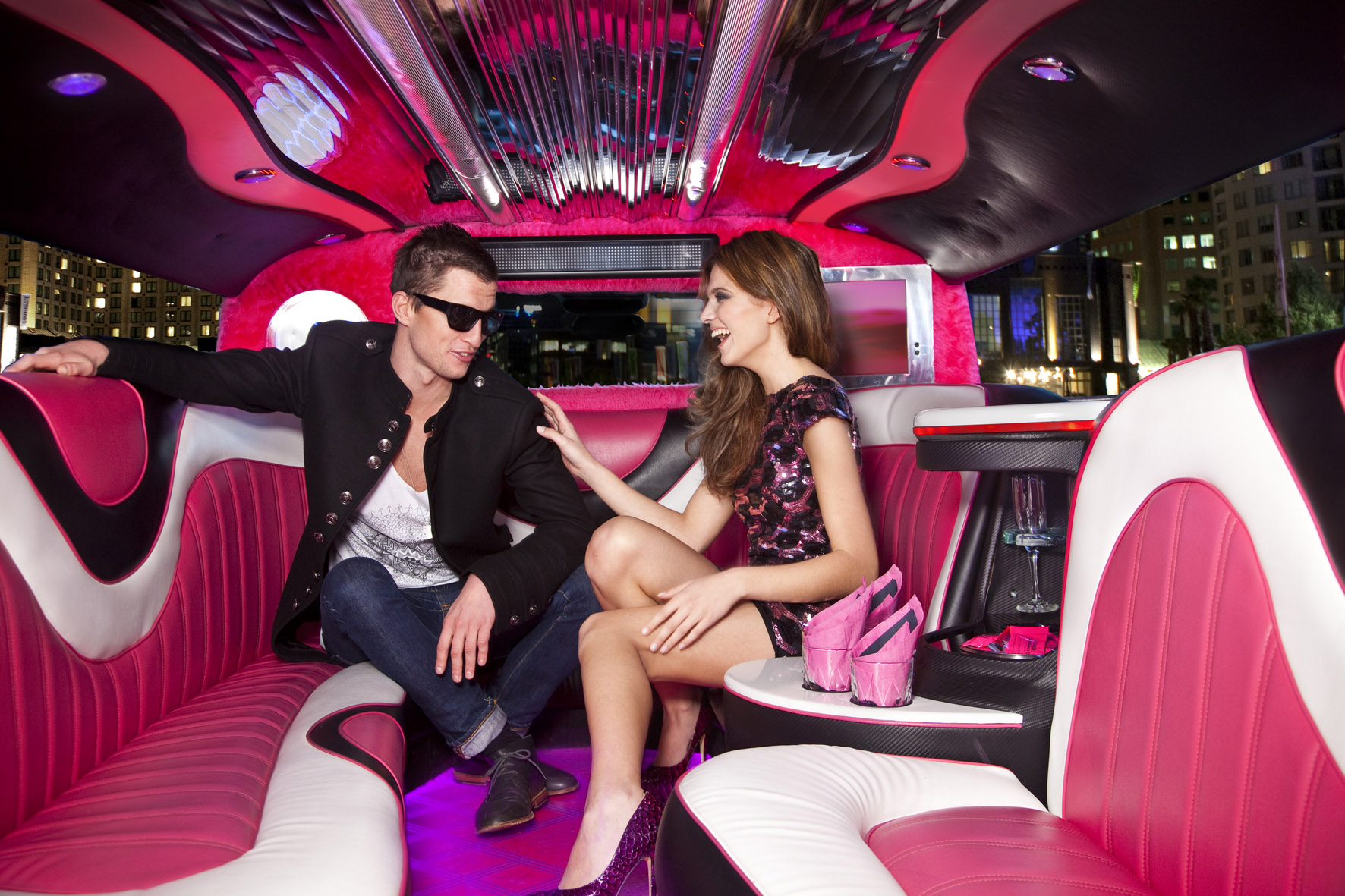 Pink Party Limo Miami