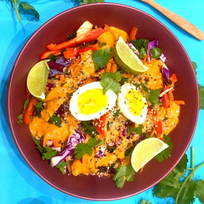 Thai Salad with Curry-Coconut dressing
