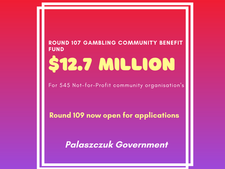 Round 107 Gambling Community Benefit Fund Queensland grant recipients announced!