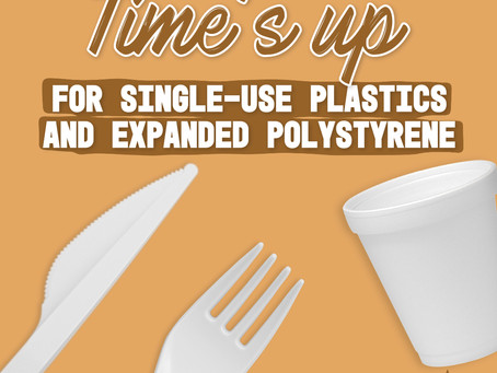 Banning single-use plastic and expanded polystyrene products