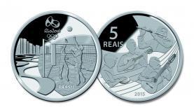 Moedas  de  prata trazem  locais conhecidas onde se  praticam esportes Divulgação/Banco Central