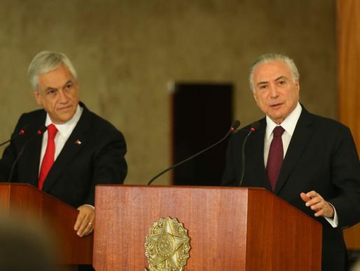 Temer vai ao Chile para assinar acordo de livre comércio