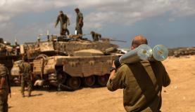 Soldados israelenses durante ofensiva na Faixa de GazaDireitos Reservados/Atef Safadi/Agência Lusa