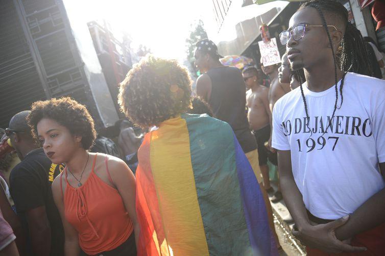 Para os organizadores, uma das bandeiras do povo LGBT que precisam ser defendidas é a definição de medidas contra a homofobia (Fernando Frazão/Agência Brasil)