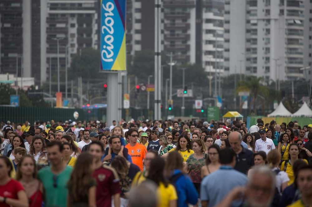 Movimentação intensa no Parque Olímpico da Barra. Foto: Getty Images
