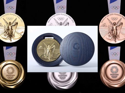Comitê Olímpico do Japão apresenta as medalhas feitas com material reciclado de telefones celulares