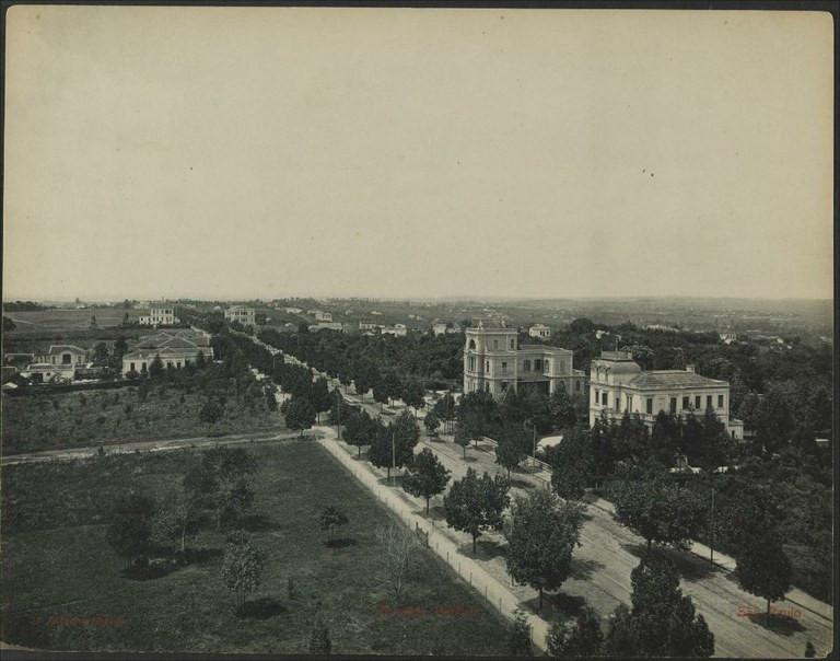 Avenida Paulista em 1902, retratada por Gaensly, Guilherme, 1843-1928 - Acervo/Biblioteca Nacional