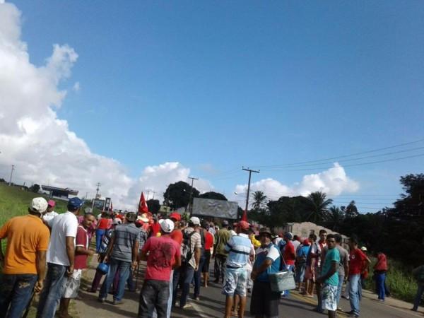 Manifestação na BR-406 no Rio Grande do Norte