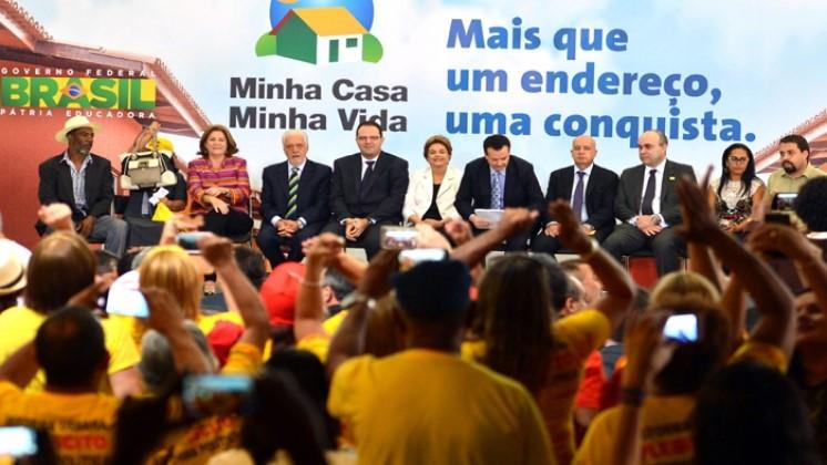 O lançamento do Programa Minha Casa, Minha Vida 3, no Palácio do Planalto