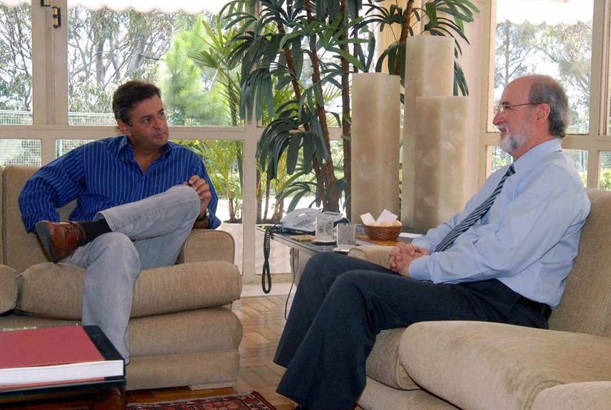 ex-governador Eduardo Azeredo (PSDB-MG) e Aécio Neves (PSDB-MG)