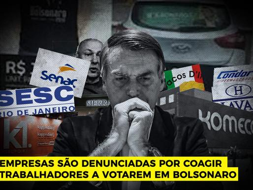 28 empresas são denunciadas por coação eleitoral pró-Bolsonaro