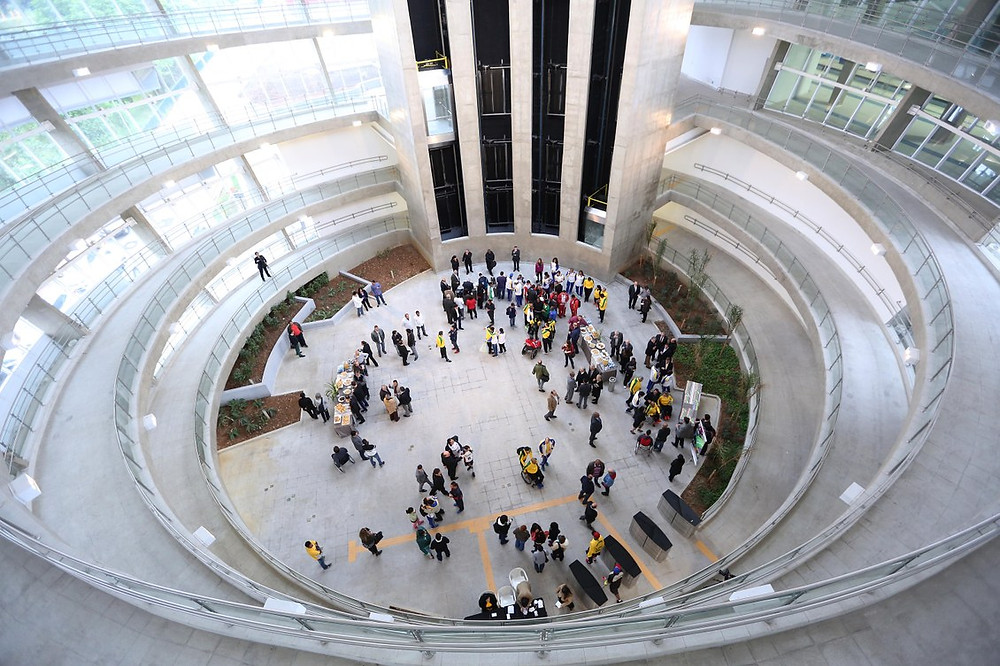 Hall de entrada do Centro de Treinamento Paralímpico, em São Paulo. Foto: Roberto Castro/Brasil2016.gov.br/ME