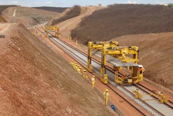 Quando concluída, a Ferrovia Transnordestina vai passar por três estados e 81 municípios. Blog do Planalto