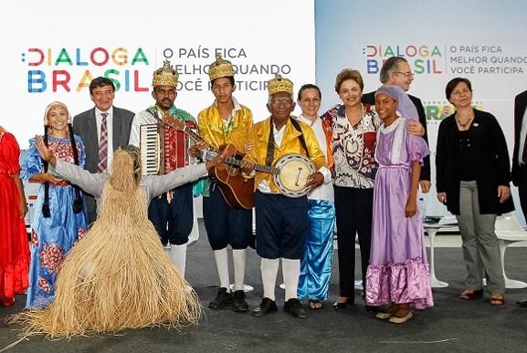 A presidenta reforçou que o caráter democrático do Brasil garante cidadania a todas as pessoas. Foto: Roberto Stuckert Filho/PR