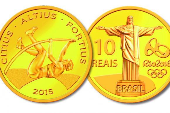 Moeda de ouro homenageia o Cristo Redentor, um dos principais cartões postais do RioDivulgação Banco Central