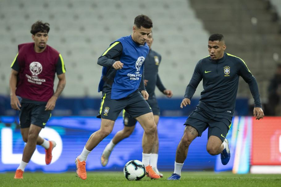 Treino oficial da Seleção Brasileira na Arena Corinthians/Foto (Créditos: Lucas Figueiredo/CBF)