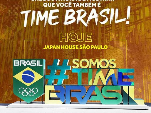 Jogos Olímpicos Tóquio 2020 ganha letreiro Time Brasil na Av. Paulista