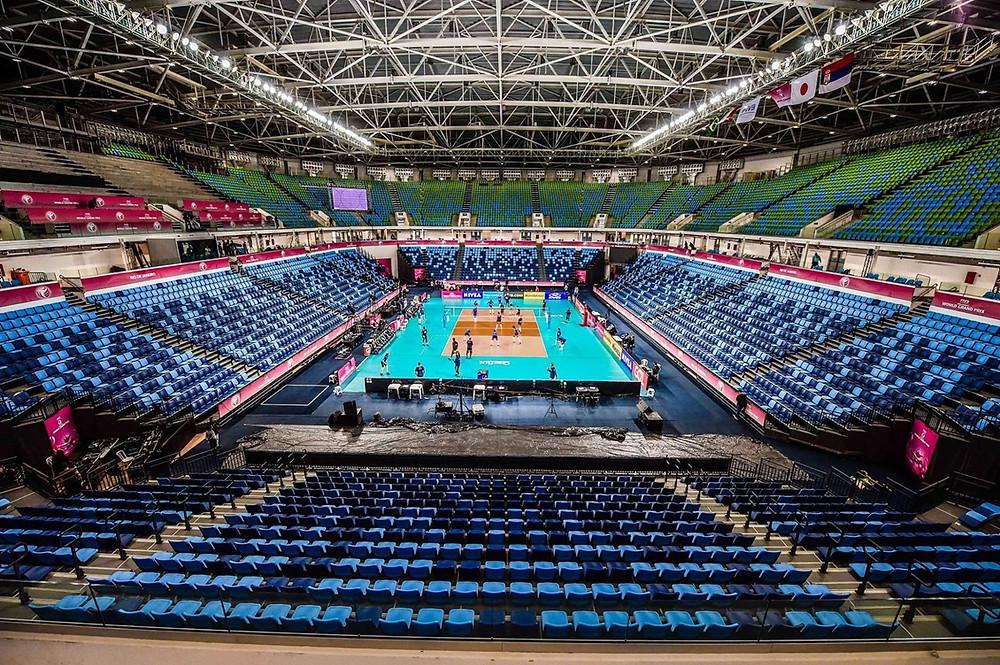 Arena Carioca 1, no Parque Olímpico, recebe a primeira rodada do grupo B do Grand Prix. Foto: Bruno Miani/Inovafoto/CBV
