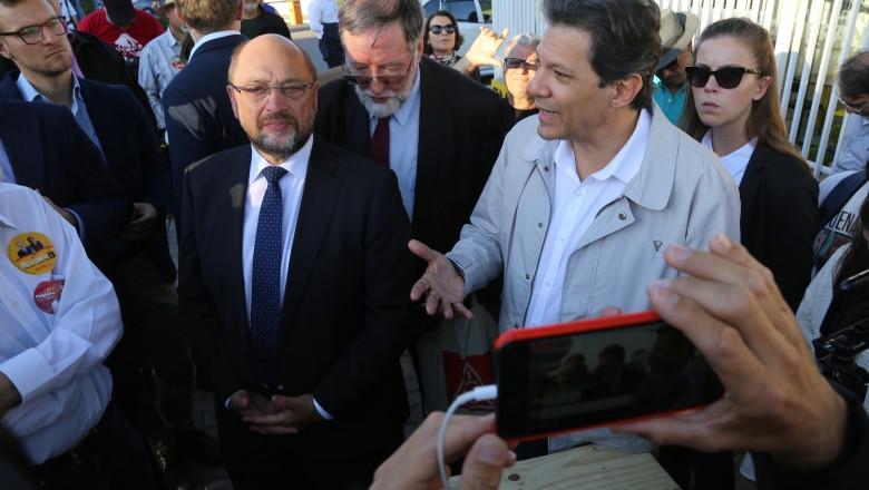 Schulz e Haddad/Foto: Juca Varella