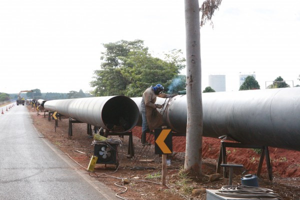 Início das obras do Sistema Capim Branco – Foto: Secom/Prefeitura de Uberlândia