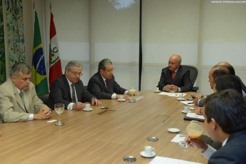 Visita Sr Jorge Bayona Embaixador do Peru -  Foto: Herick Pereira/Secom