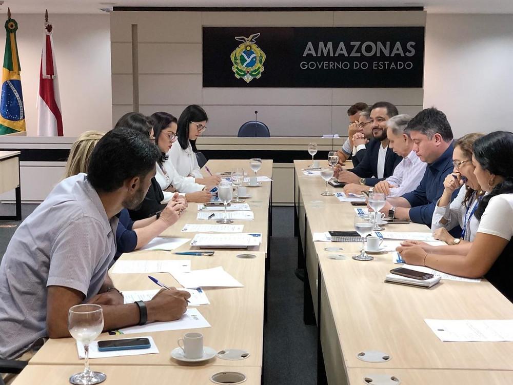 Superintendente da Funasa no Amazonas Wenderson Monteiro esteve em reunião com o Governo do Estado do Amazonas, nesta segunda-feira (07/08) para ajustar a parceria da Fundação e governo estadual na realização do Seminário  Foto: Divulgação/ Suest-AM