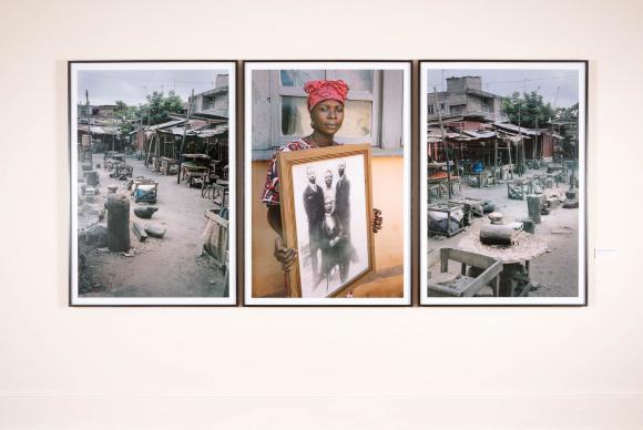 Retratos do fotógrafo Leonce Raphael Agbodjélou, do Benin, na obra Código NegroJoana França/Divulgação