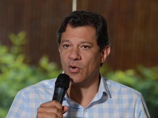 """Haddad deseja """"boa sorte"""" a Bolsonaro e diz que está com coração leve"""