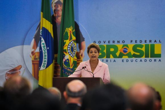 A presidenta Dilma Rousseff participa da cerimônia de lançamento do Plano Nacional de Defesa AgropecuáriaElza Fiúza/Agência Brasil