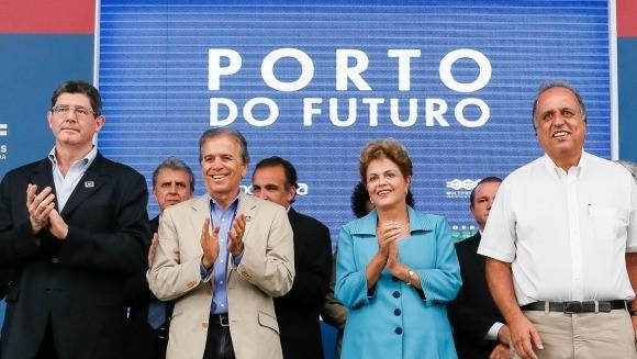 Dilma entrega das obras de expansão e modernização dos terminais privados de Libra, Multi-Rio e Multi-Car – Porto do Futuro. Foto: Roberto Stuckert Filho/PR.