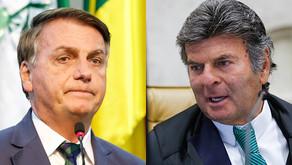 Fux reage a novos ataques de Bolsonaro contra o STF e cancela reunião entre Poderes