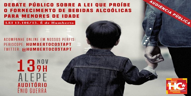 Lei de autoria do senador Humberto Costa torna crime vender bebida alcóolica a menor