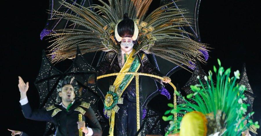 """Michel Temer reproduzido como """"vampirão"""", representando o projeto neoliberal sangue-suga que tomou conta do País após a deposição da presidenta Dilma. Foto: Divulgação"""