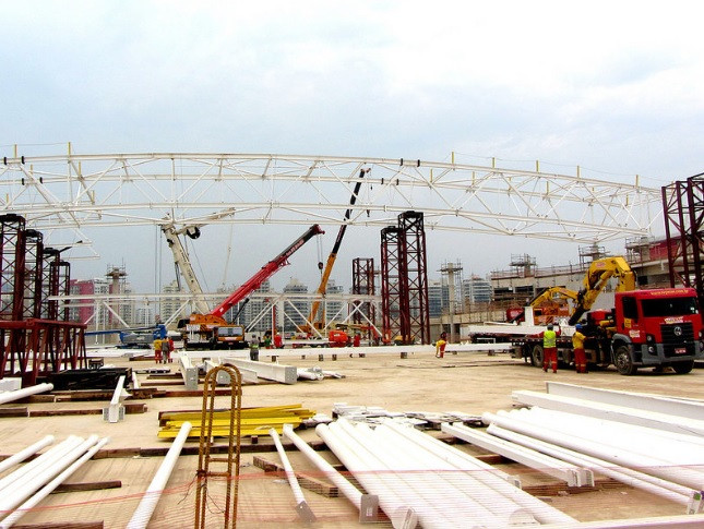 Crédito: APO. Legenda: Obras do Parque Olímpico na Barra