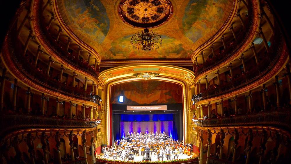 O Teatro Amazonas receberá a ópera Tosca, de Giacomo Puccini - Foto (Crédito: Michael Dantas)