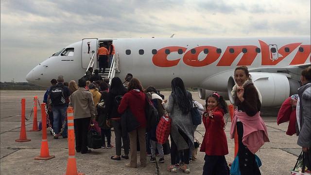 Avião da Conviasa, companhia aérea estatal venezuelana, resgata cidadãos na Argentina / Foto: Últimas Notícias