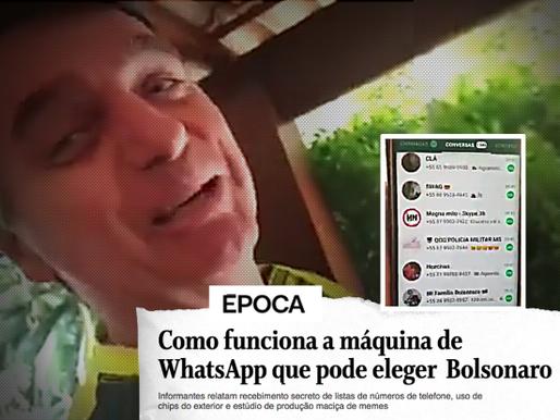 Estratégia de Bolsonaro no WhatsApp: mensagens falsas, disparos pagos e chips do exterior