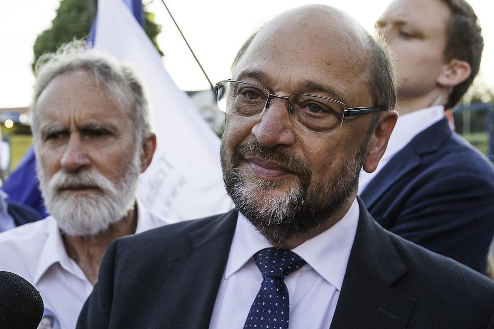 Martin Schulz, do Partido Social Democrata da Alemanha – SPD (filiado à Internacional Socialista), após visita ao presidente Lula nesta quinta-feira (30)/Foto: Joka Madruga