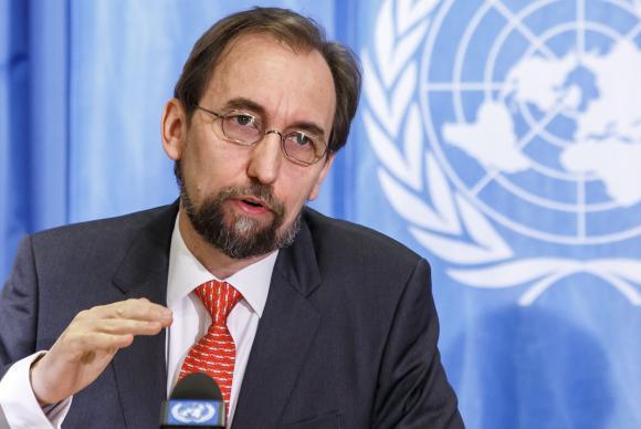 Alto-comissário da ONU para os Direitos Humanos, Zeid al-HusseinSalvatore di Nolfi/EPA/Agência Lusa/Arquivo