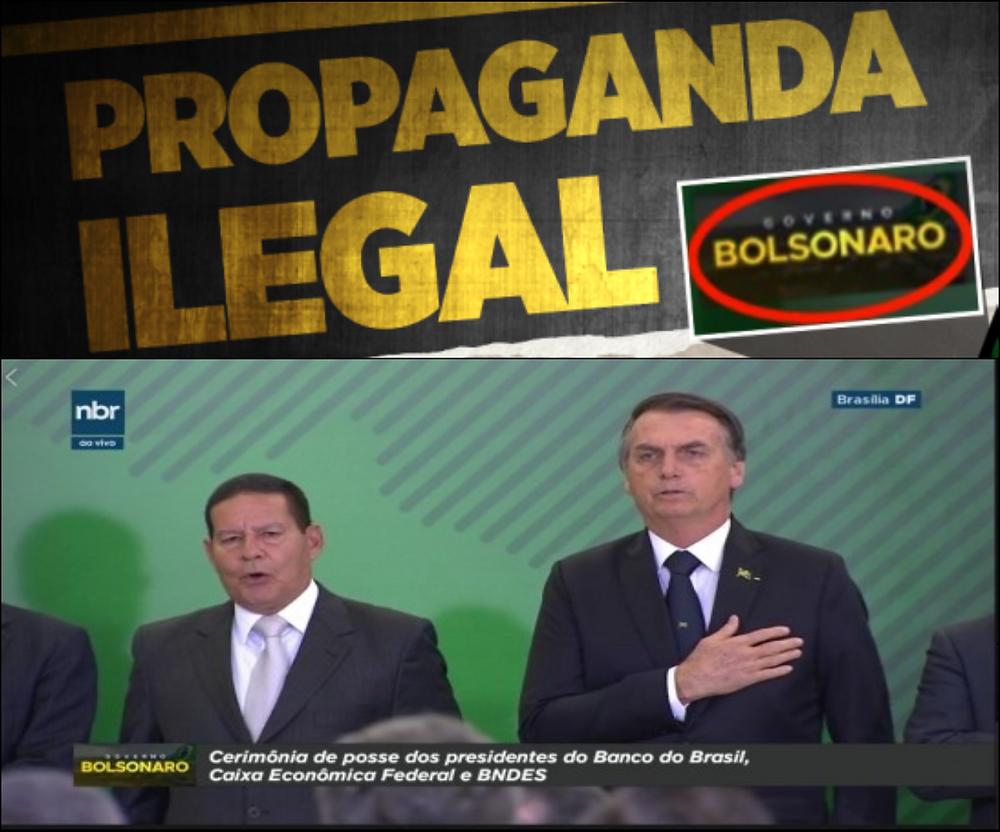 Foto: Reprodução -  Canal do Planalto usou vinheta com nome de Bolsonaro