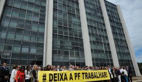 Delegados da Polícia Federal protestam contra cortes no orçamento José Cruz/Agência Brasil