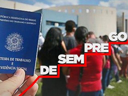 Bolsonaro fecha 2 anos com 14 milhões de desempregados e aumento do desalento