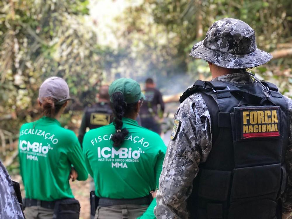 Equipe de Proteção do ICMBio de Itaituba realizou ações em campo nos meses de junho e julho. (Foto: Hevelise Dias)