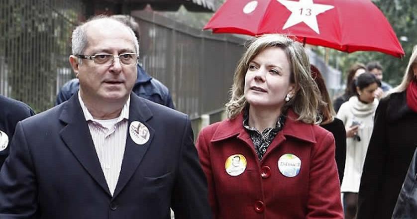 Paulo Bernardo e Gleisi: senadora não esmoreceu