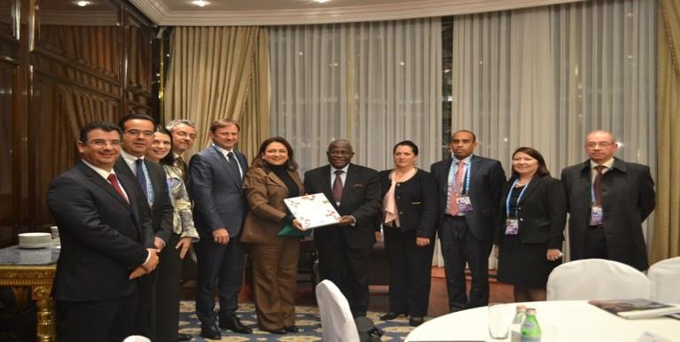 Em Moscou, Kátia Abreu se reuniu com o Fundo Internacional para o Desenvolvimento Agrícola (Fida) Foto: Priscilla Mendes/Mapa