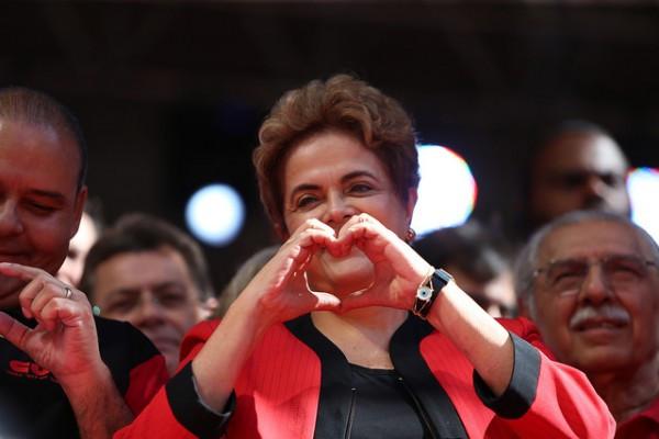 Presidenta Dilma faz discurso em ato em São Paulo. Foto: Paulo Pinto/Agência PT