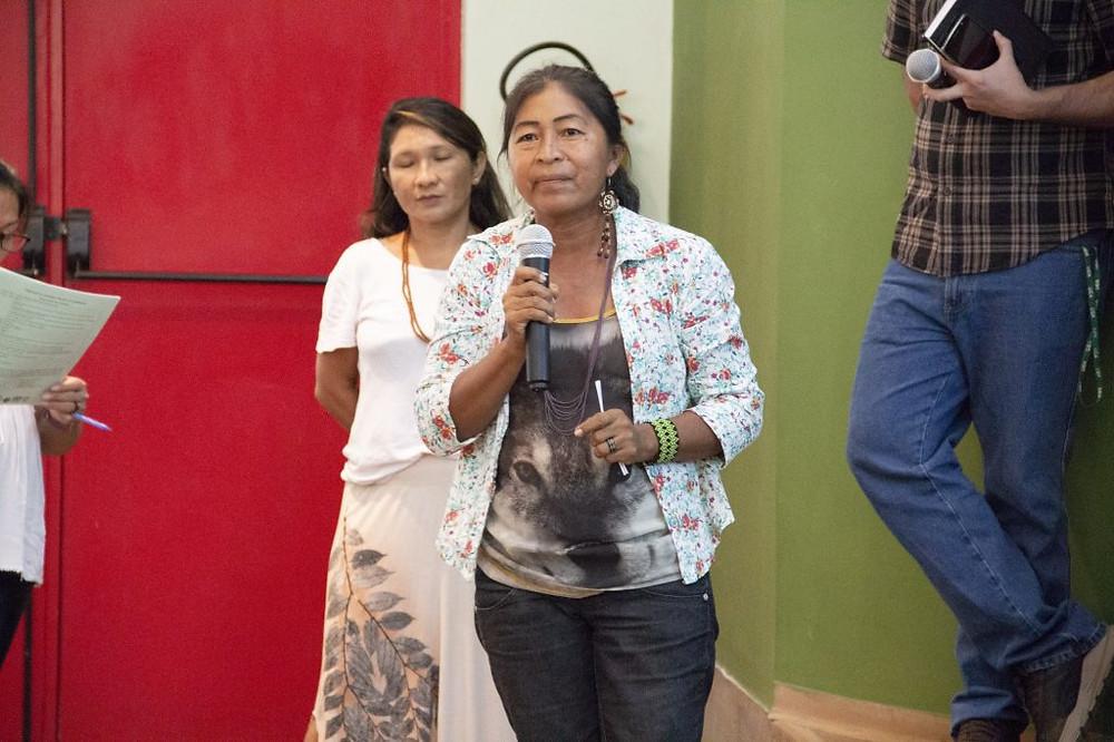 Rosimeire Teles é coordenadora da Associação das Mulheres do Alto Rio Negro, no Amazonas (Foto: Wérica Lima/Inpa)